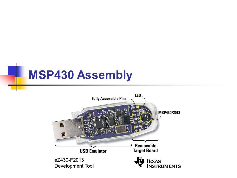 MSP430 Assembly Paul Roper