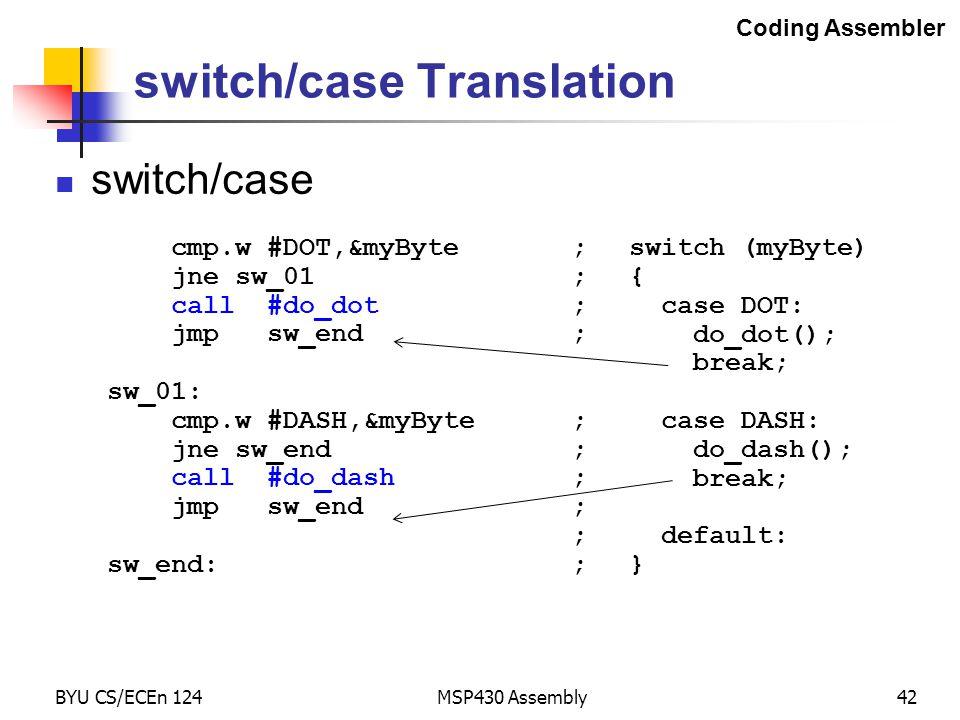 switch/case Translation