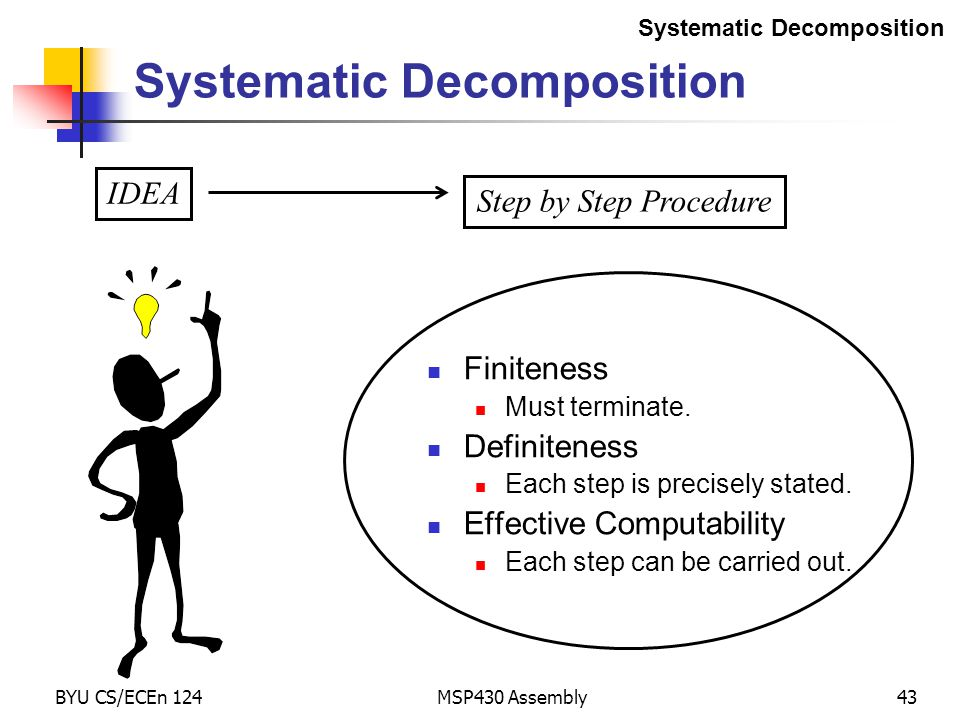 Systematic Decomposition