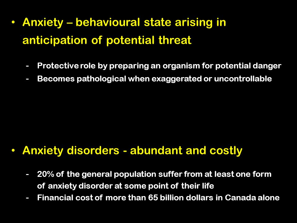 Anxiety disorders - abundant and costly