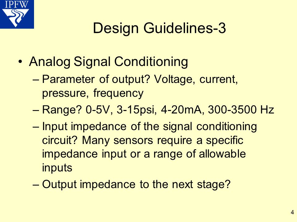 Design Guidelines-3 Analog Signal Conditioning