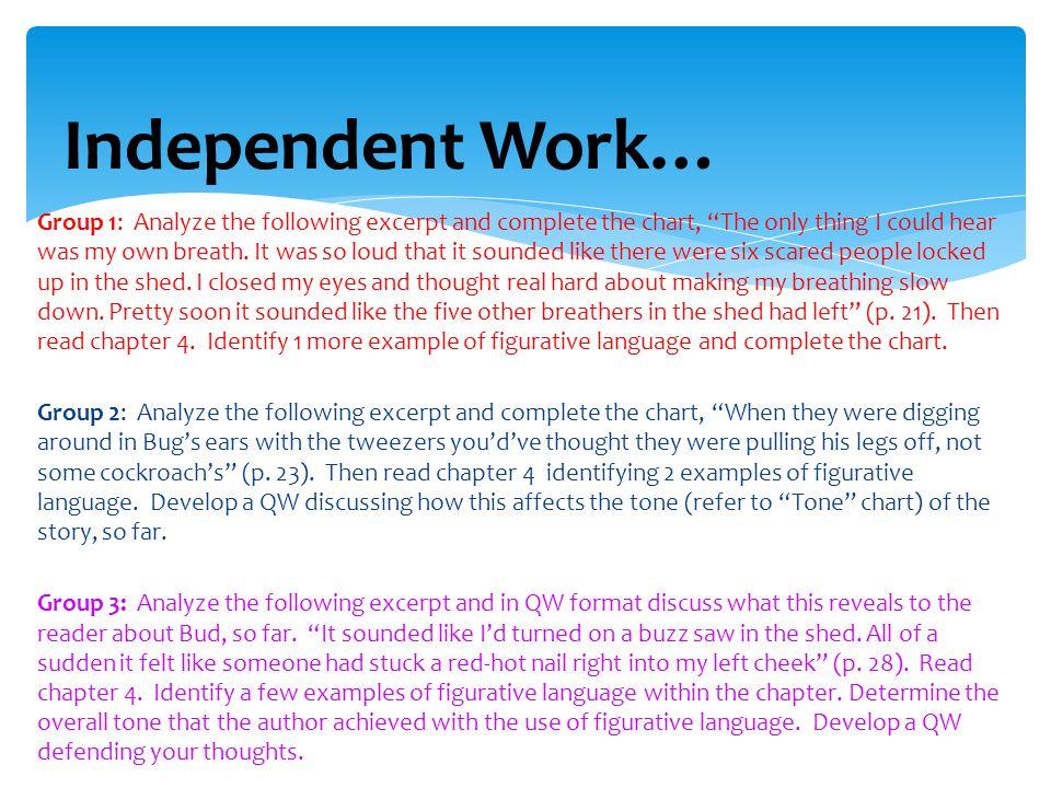 Independent Work…