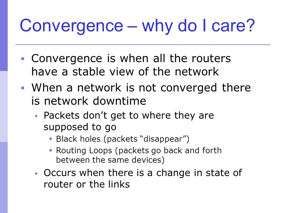 Convergence – why do I care