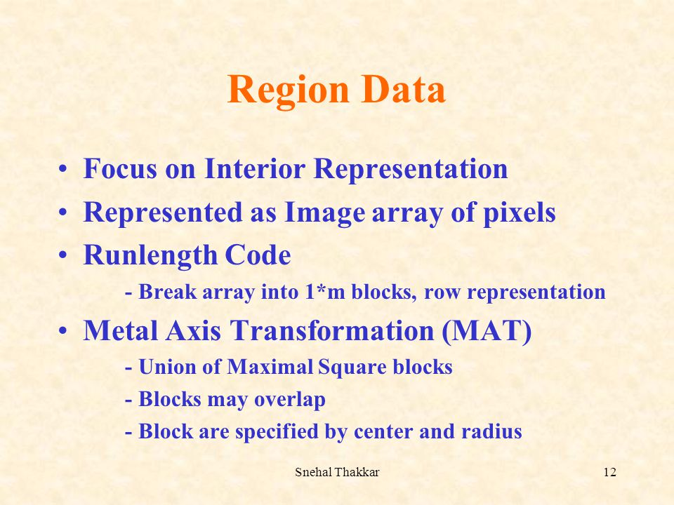 Region Data Focus on Interior Representation