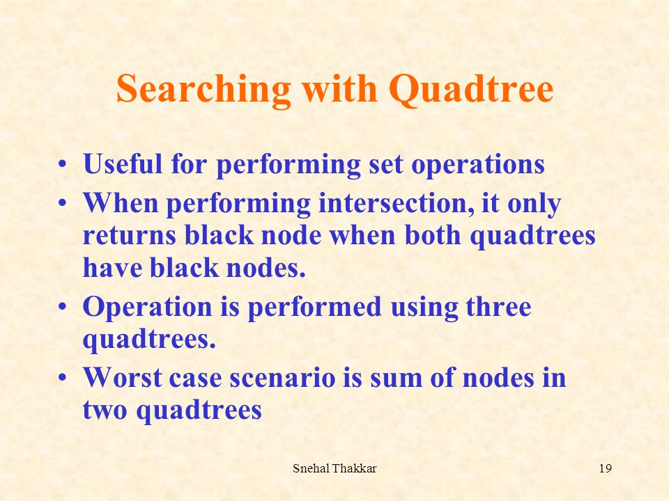 Searching with Quadtree