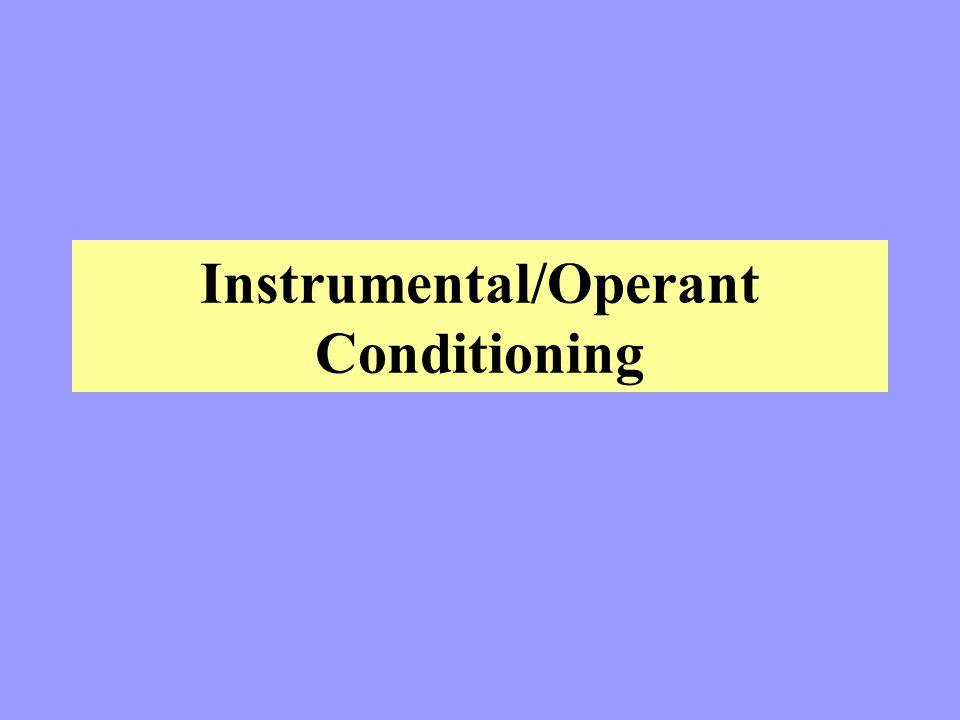Instrumental/Operant Conditioning