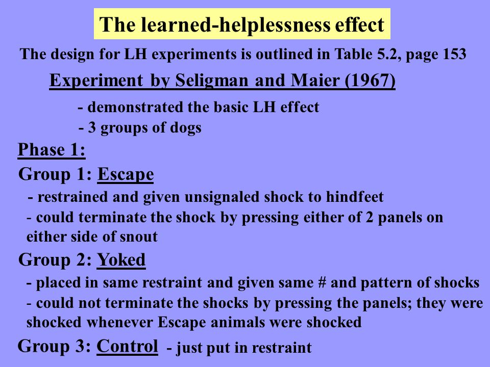 The learned-helplessness effect