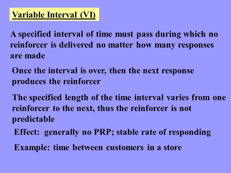 Variable Interval (VI)