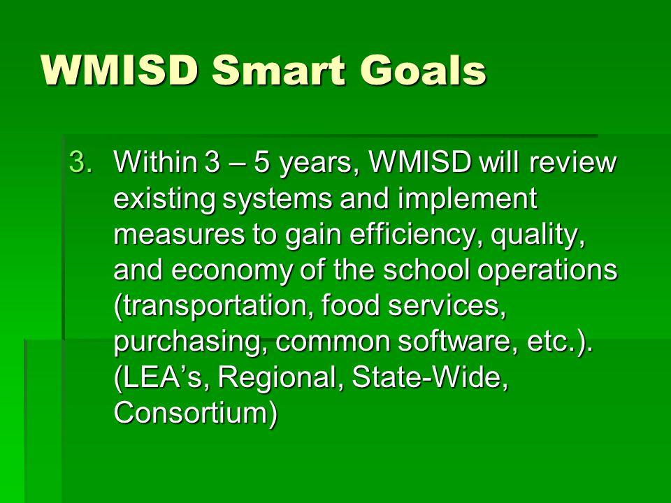 WMISD Smart Goals