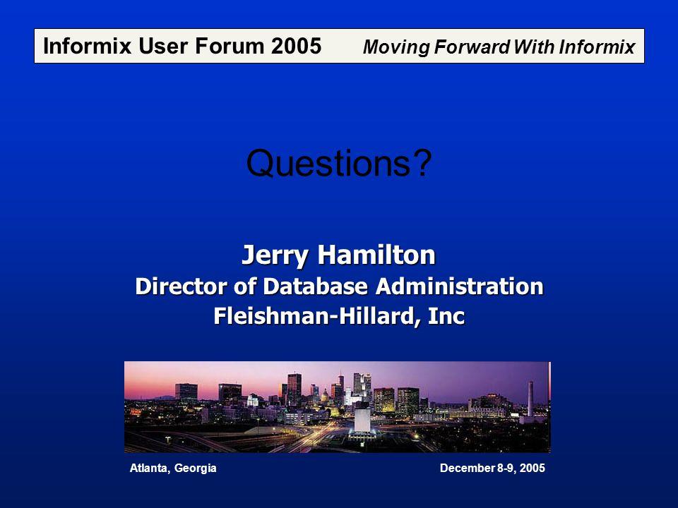 Questions Jerry Hamilton