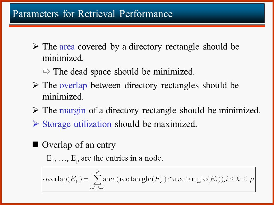 Parameters for Retrieval Performance