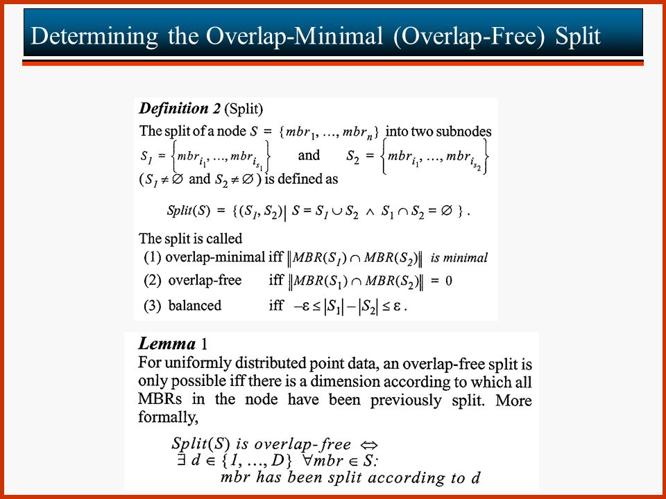 Determining the Overlap-Minimal (Overlap-Free) Split