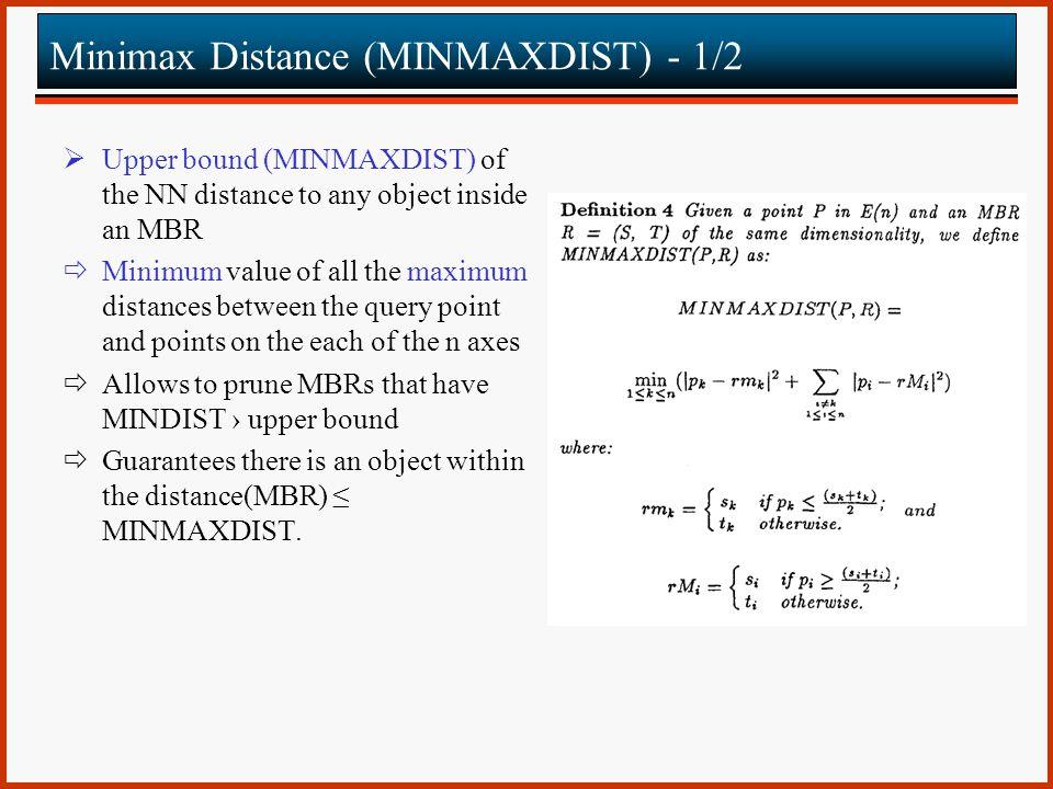 Minimax Distance (MINMAXDIST) - 1/2