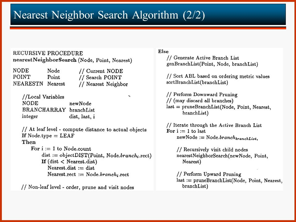 Nearest Neighbor Search Algorithm (2/2)