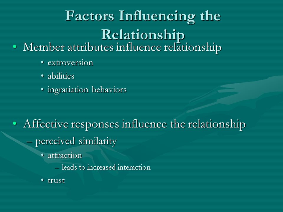 Factors Influencing the Relationship