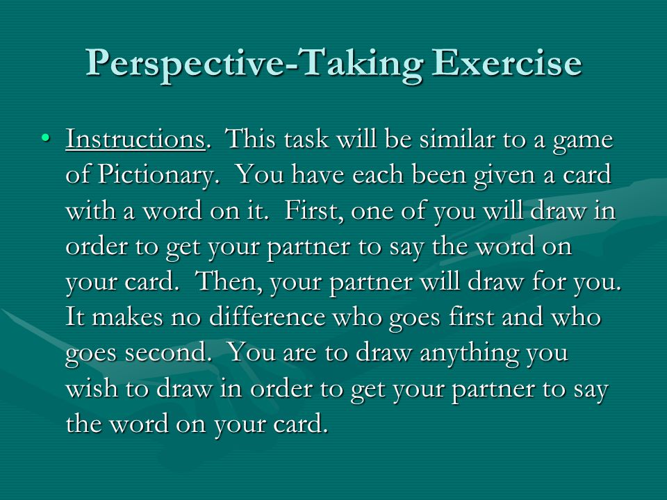 Perspective-Taking Exercise