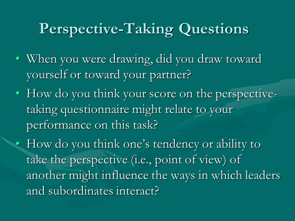 Perspective-Taking Questions