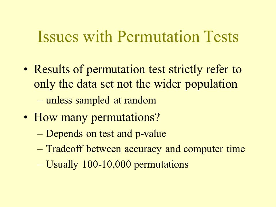 Issues with Permutation Tests