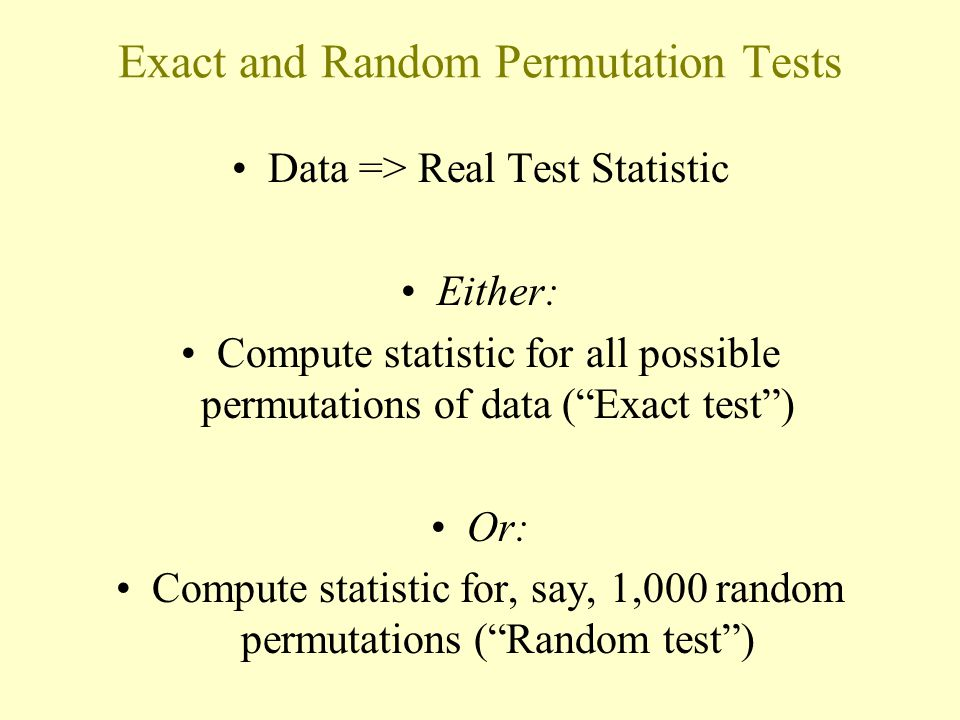 Exact and Random Permutation Tests