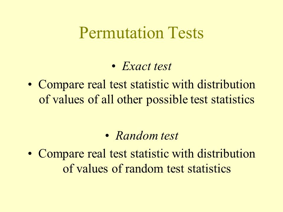 Permutation Tests Exact test