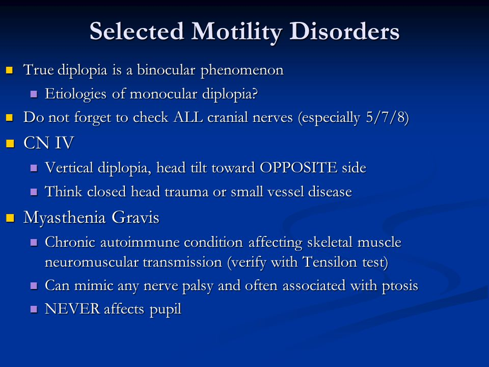Selected Motility Disorders