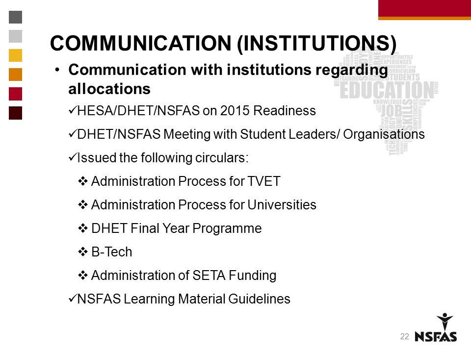 COMMUNICATION (INSTITUTIONS)
