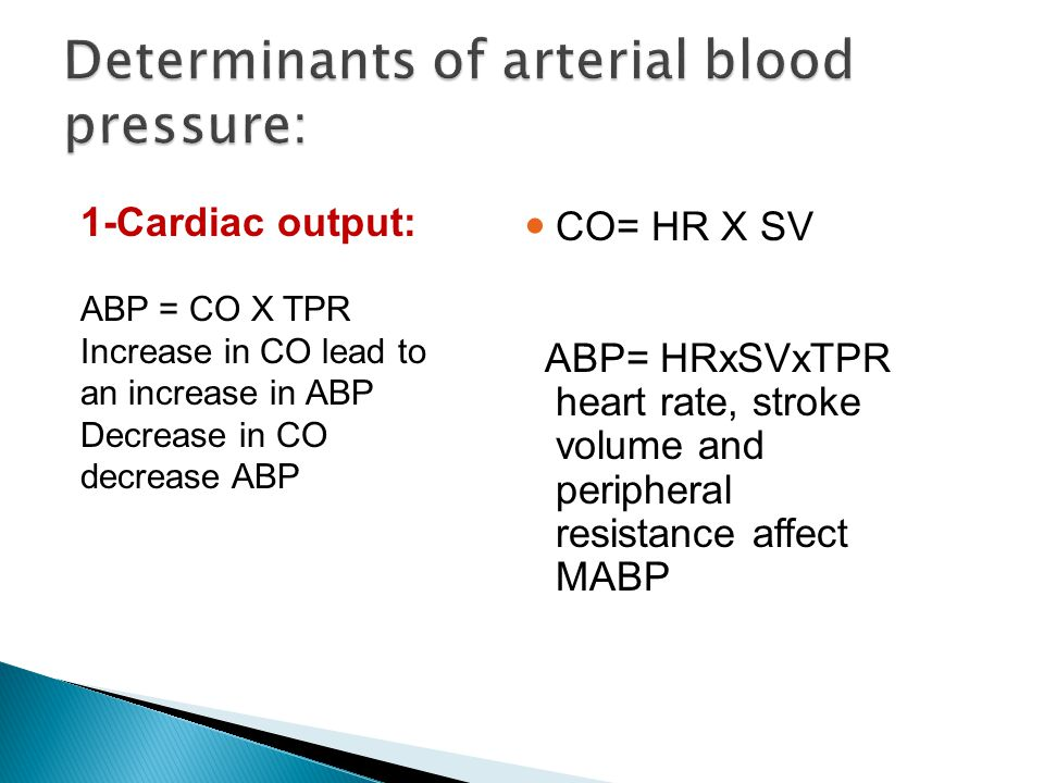 Determinants of arterial blood pressure: