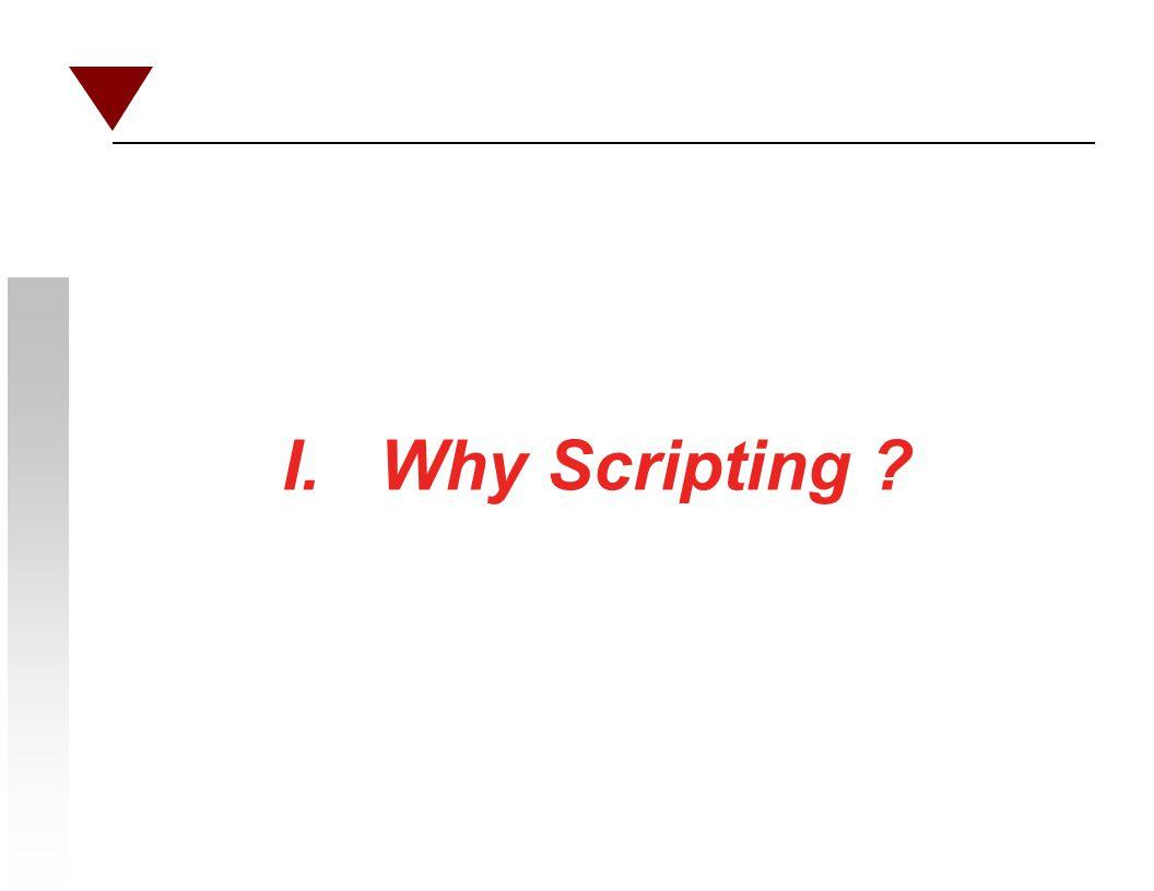 I. Why Scripting