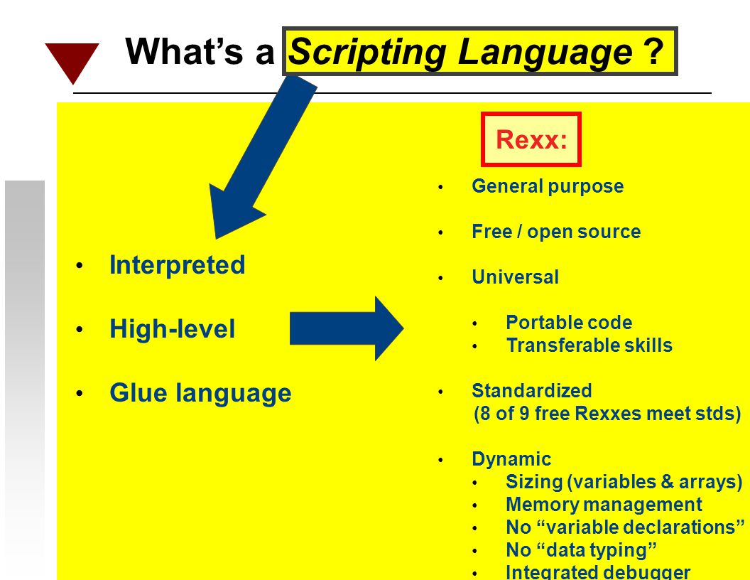 What's a Scripting Language