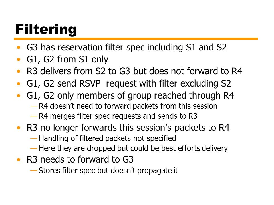 Filtering G3 has reservation filter spec including S1 and S2