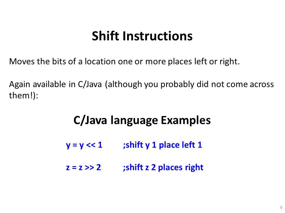 C/Java language Examples