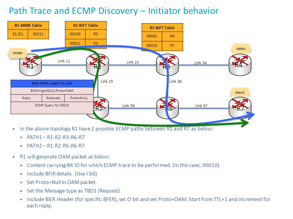 Path Trace and ECMP Discovery – Initiator behavior