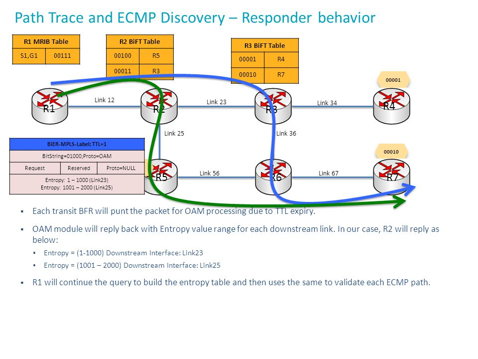 Path Trace and ECMP Discovery – Responder behavior