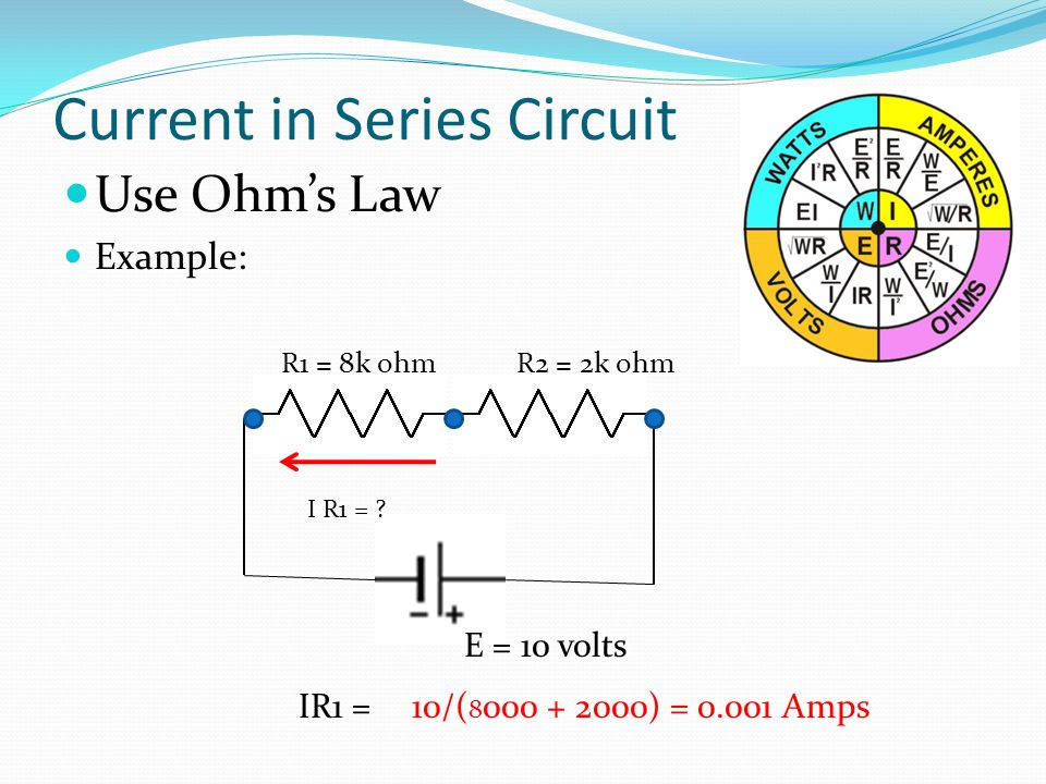 Current in Series Circuit