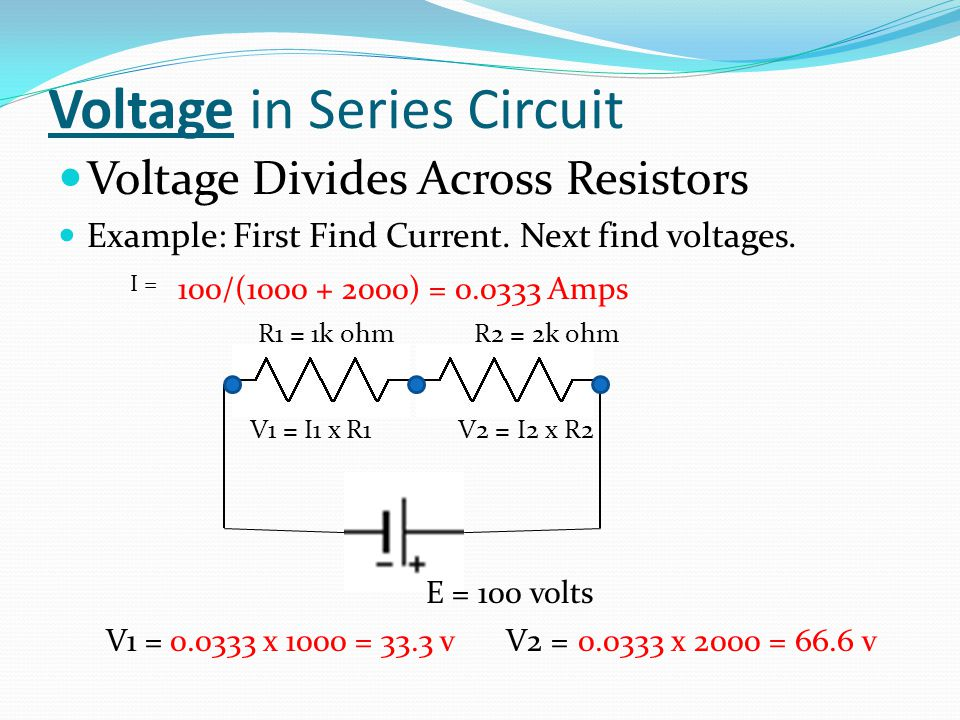 Voltage in Series Circuit