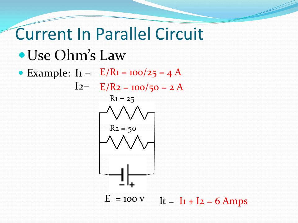 Current In Parallel Circuit