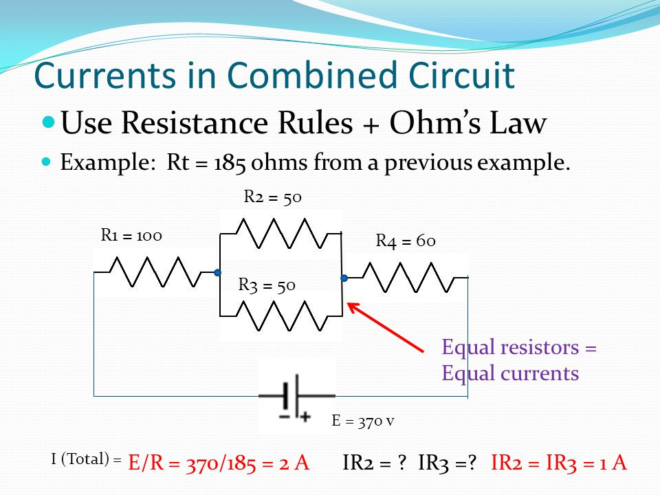 Currents in Combined Circuit