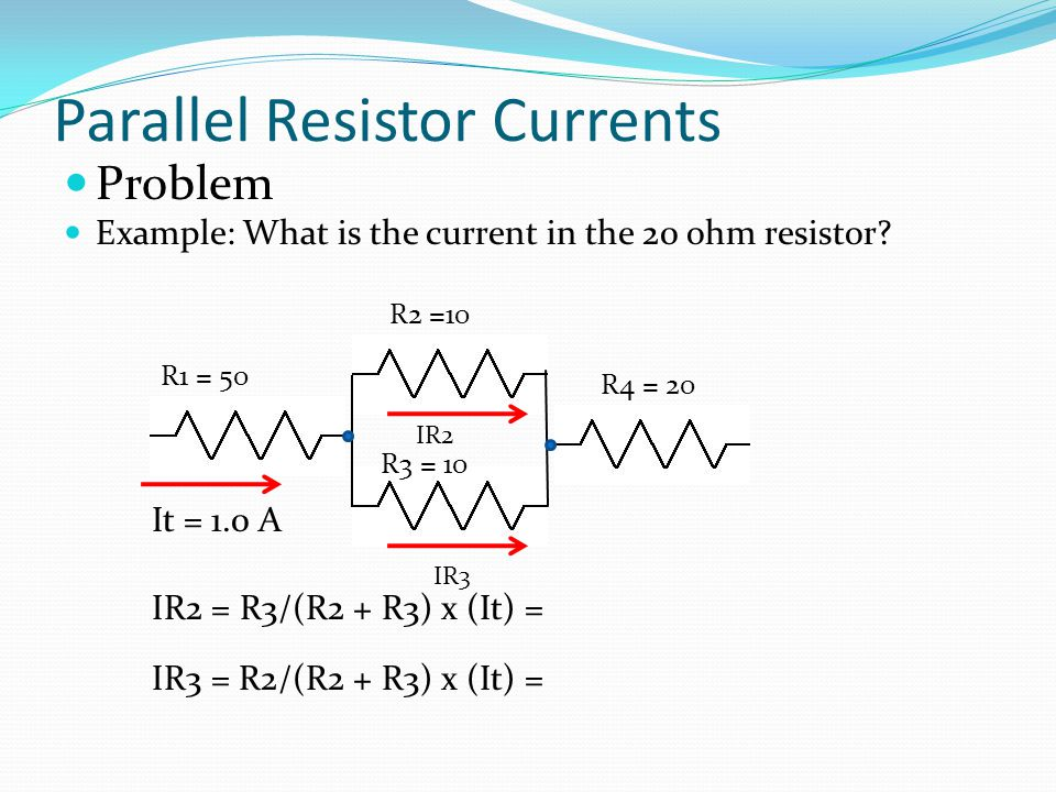 Parallel Resistor Currents