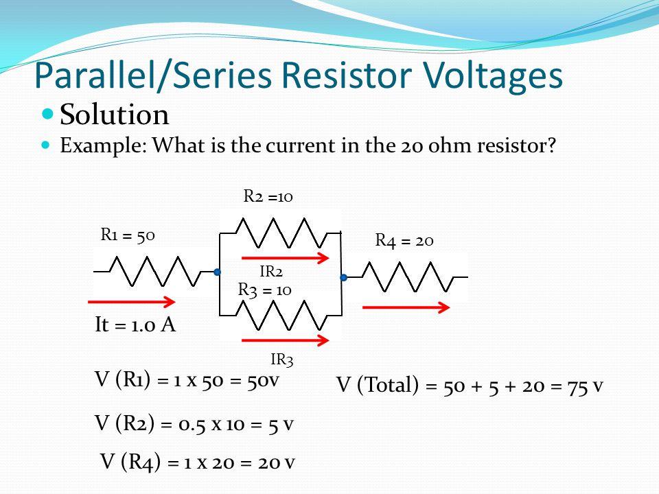 Parallel/Series Resistor Voltages