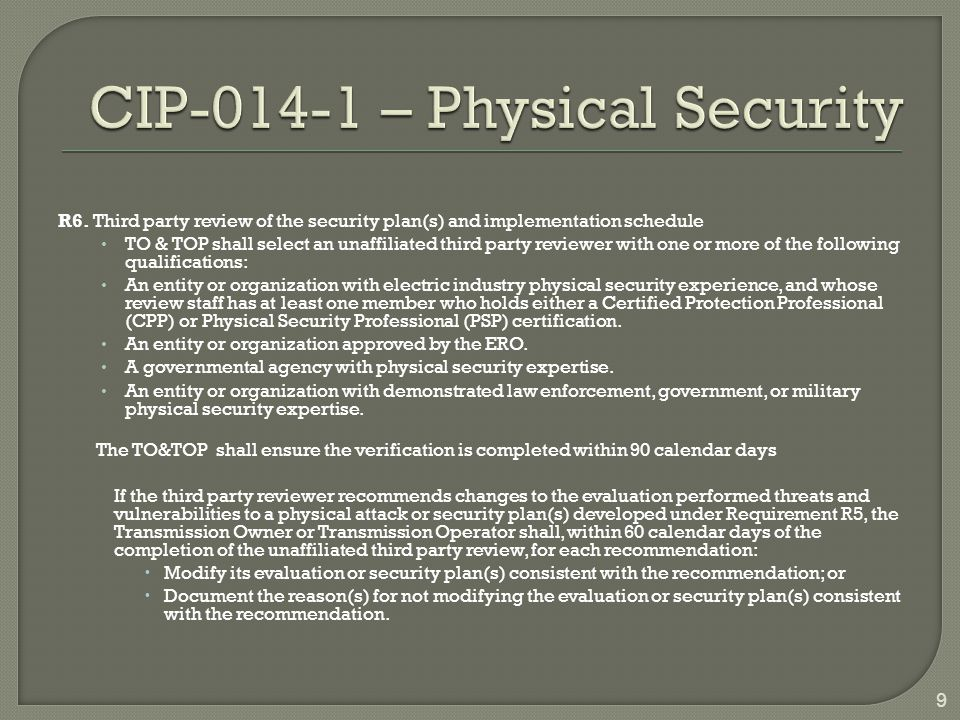 CIP-014 – Physical Security
