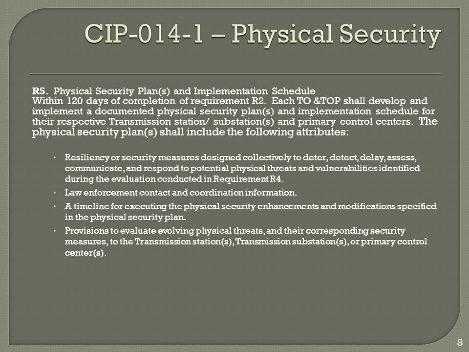 CIP-014-1 – Physical Security