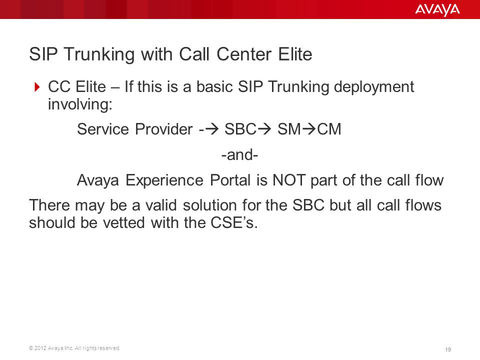 SIP Trunking with Call Center Elite