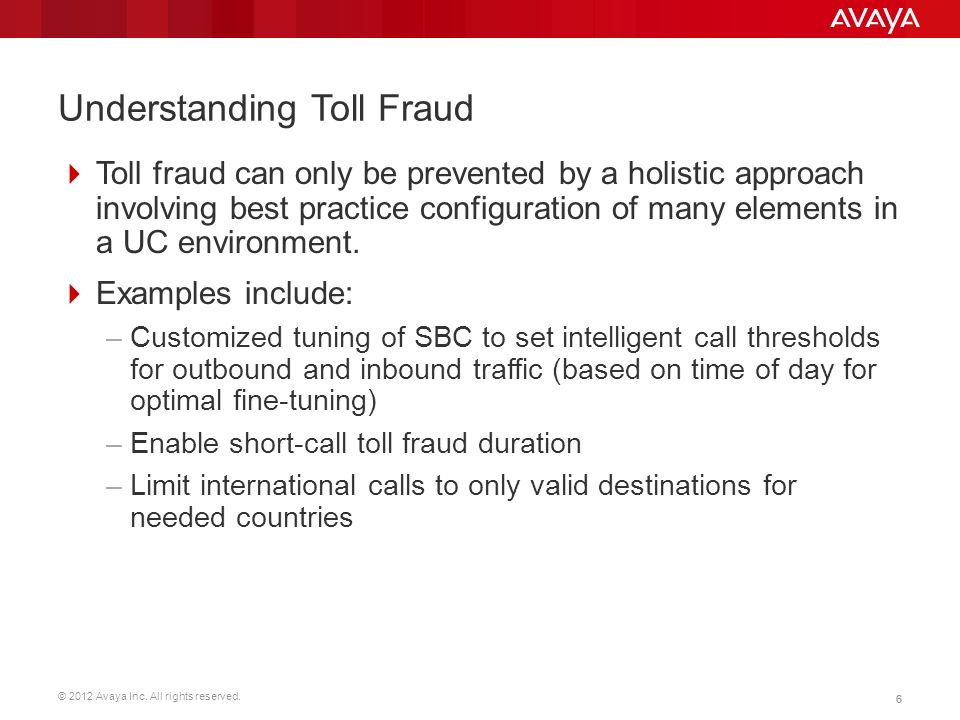 Understanding Toll Fraud