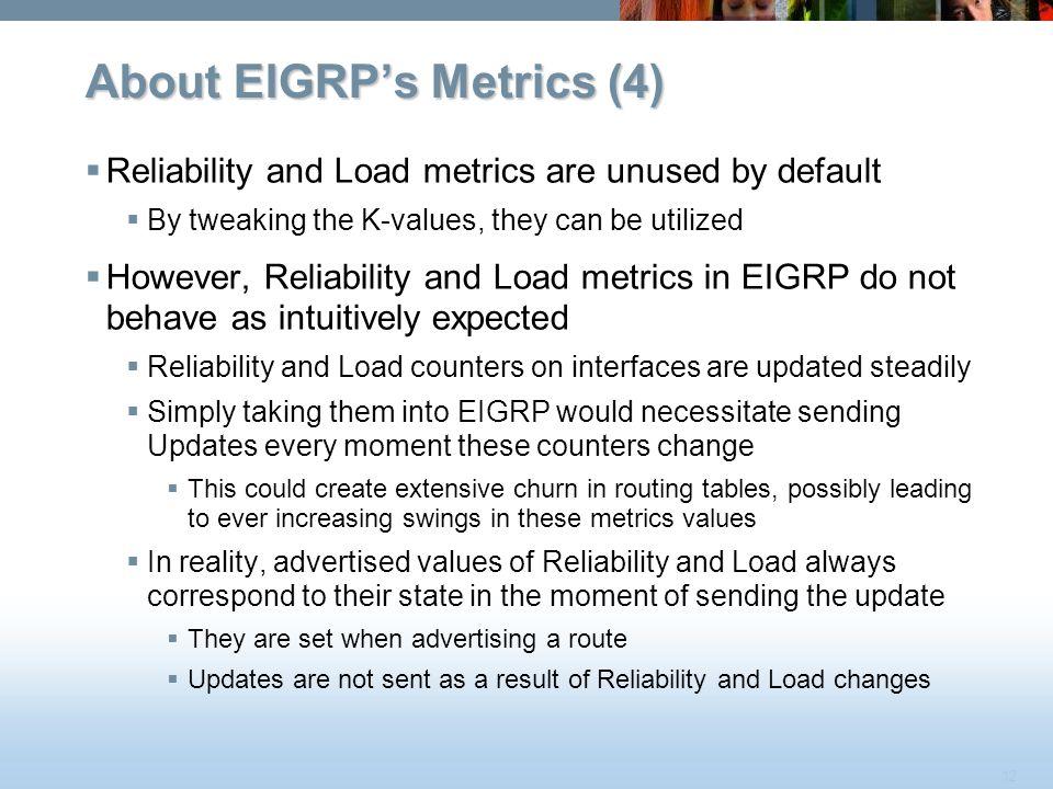 About EIGRP's Metrics (4)