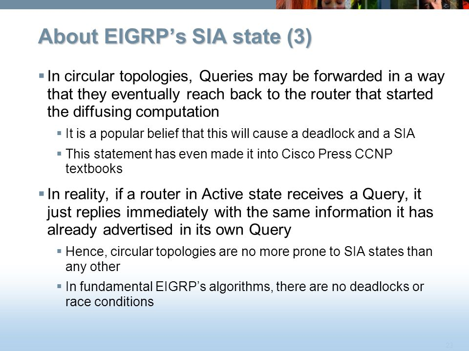 About EIGRP's SIA state (3)