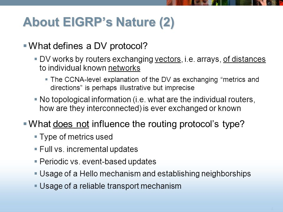 About EIGRP's Nature (2)