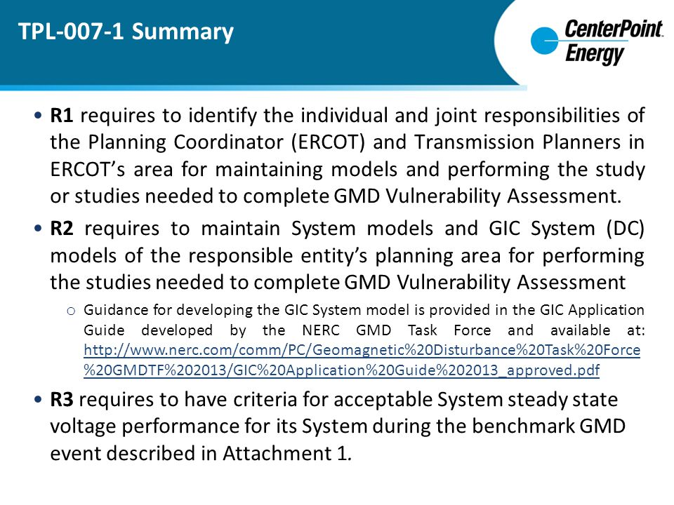 TPL-007-1 Summary