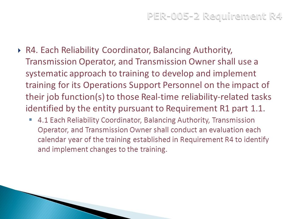 PER-005-2 Requirement R4