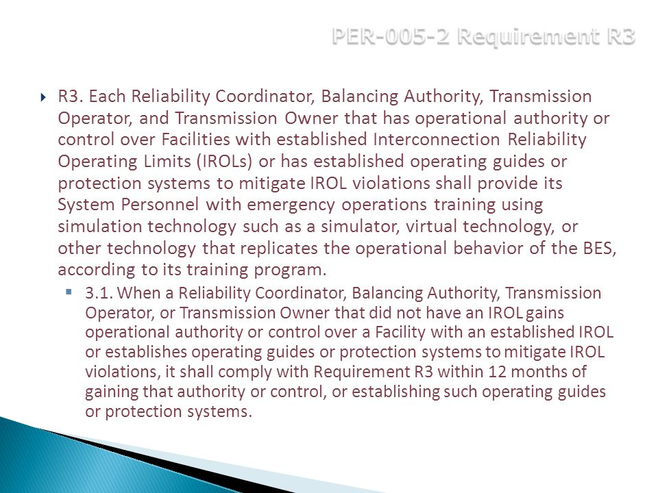 PER-005-2 Requirement R3