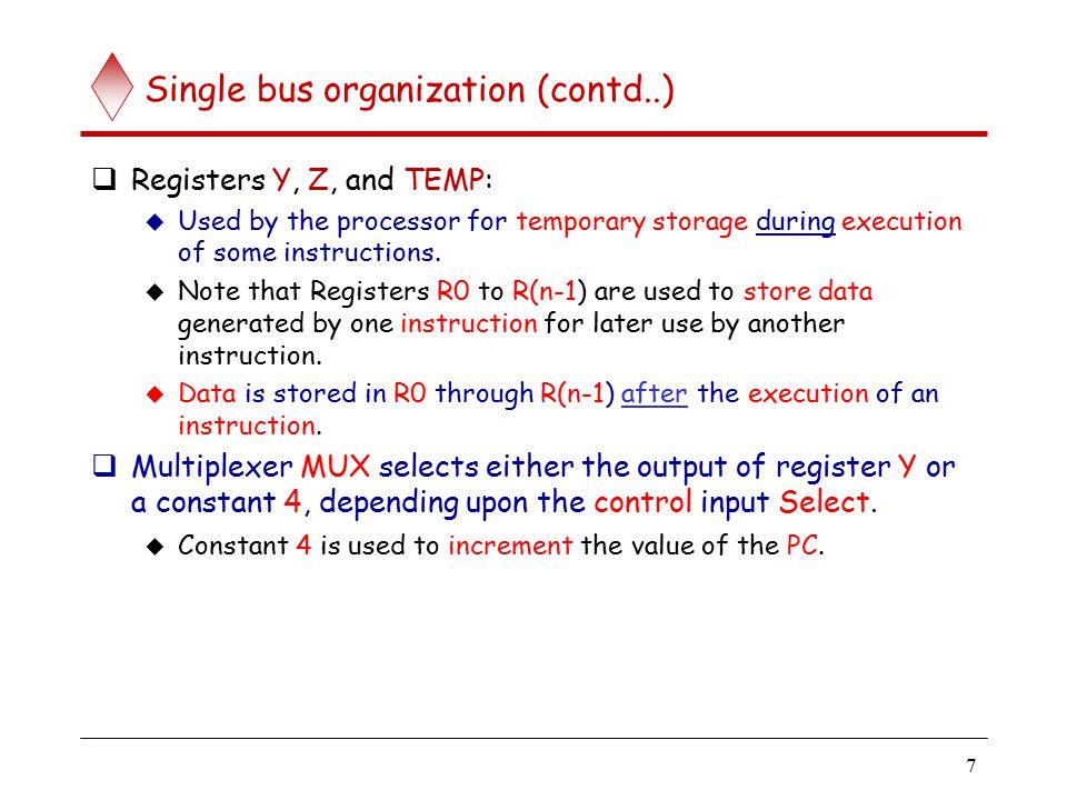 Registers and the bus bus line 0 bus line 1 bus line m-1 (e.g., 31)